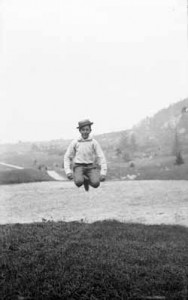 Benjamin Sewall Blake jumping, ca. 1888. From the Francis Blake photographs at the Massachusetts Historical Society.