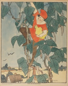 """Jack and the beanstalk,""  c. 1918. From the National Child Welfare Association Location."