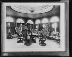 """Interior, Larz Anderson Estate, Brookline"" ca. 1934-1956. From Boston Public Library"