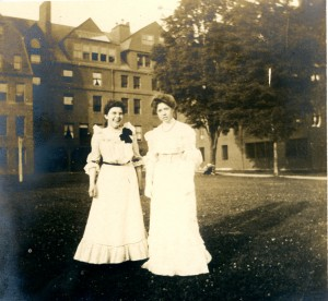 "Abbot Academy.  ""Abbot girls on Lawn.""  Photograph.  1901."