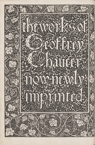 """The works of Geoffrey Chaucer,"" from Early, Rare, and Exceptional Items from Special Collection, Rare Books."