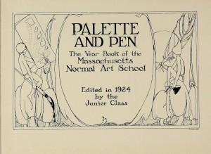 Palette and Pen from MassArt yearbook collection.