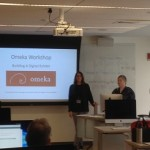 Instructors Nichole Shea and Julia Howington at the Omeka workshop at the BPL