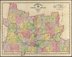 Highway map, Hampden and Hampshire counties, Mass. from the Wilbraham Library Maps Collection