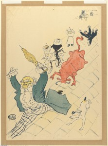 La vache enragee. Henri Toulouse-Lautrec. BPL.