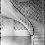 Waltham, interior detail, stairway, Governor Gore Mansion, 1799