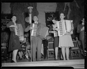 Accordion players  on Spreading New England's Fame radio program
